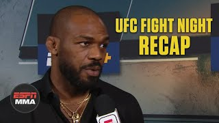Gambar cover Jon Jones reacts to Jan Blachowicz's KO win | UFC Fight Night Post Show | ESPN MMA