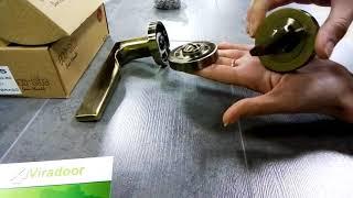 Розпакування дверної ручки Efes в кольорі бронза AB