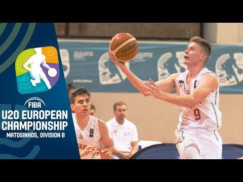 Hungary V North Macedonia - Full Game - FIBA U20 European Championship Division B 2019