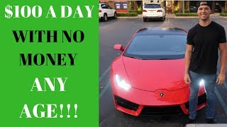 EASIEST Way To MAKE $100/DAY as a  BROKE Kid