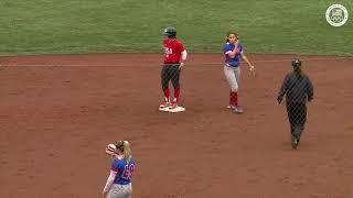 U.S. Women's Softball Gets The Victory V. Puerto Rico   Pan American Games Lima 2019