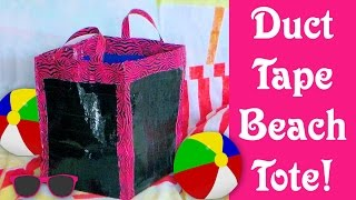 DIY Duct tape beach bag