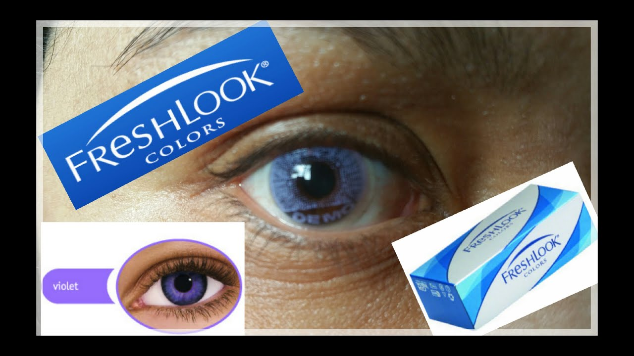 freshlook color contactsviolet on dark brown eyes - Freshlook Colors Violet