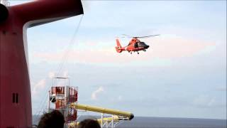Dramatic Coast Guard Rescue from Carnival Sensation Ship