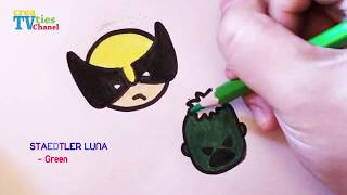 How to draw Wolverine and Hulk