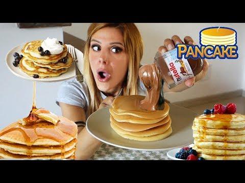 Faccio Colazione Con Voi Pancakes Mukbang Youtube