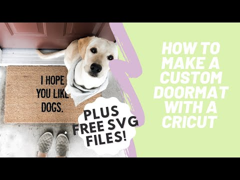 How To Make A Personalized Doormat Using Your Cricut