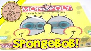 SpongeBob SquarePants Edition Monopoly Board Game, 2005 Hasbro - 3D Lenticular Eyes!