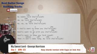 My Sweet Lord - George Harrison Drums Backing Track with chords and lyrics