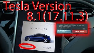 Tesla Version 8.1(17.11.3) FIRST LOOK! Easter Eggs!