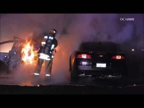 Los Angeles 605 fwy fatal fiery crash