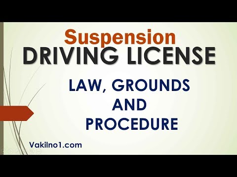 Who can suspend your Driving Licence ? What are the laws ? Mp3