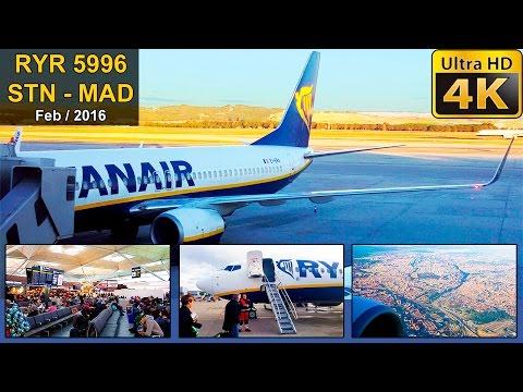 FLIGHT EXPERIENCE | London Stansted - Madrid | RYANAIR B737