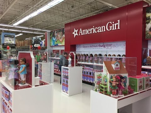 American Girl Doll Section At Toys R US