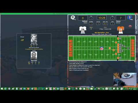 SECOND & TEN FOOTBALL SAT 1978 Oakland Raiders @ Denver Broncos Wk #1