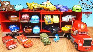 Disney Store Cars 3 Mack Hauler Toy Car Collection Thunder Hollow Crazy 8 Primer Lightning Mcqueen