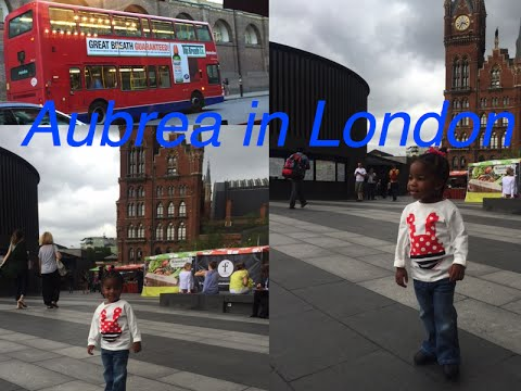 International Travel with Toddler| Aubrea  Sanaa goes to London