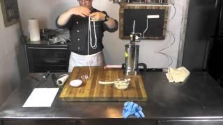 """Приемы изготовления колбас: Garlic sausage (сосиски """"Гарлик"""")"""