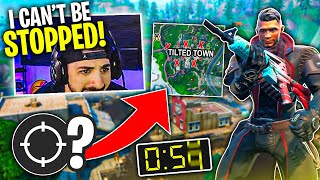 The MOST Elims In 60 Seconds?! I DESTROYED Tilted Town!