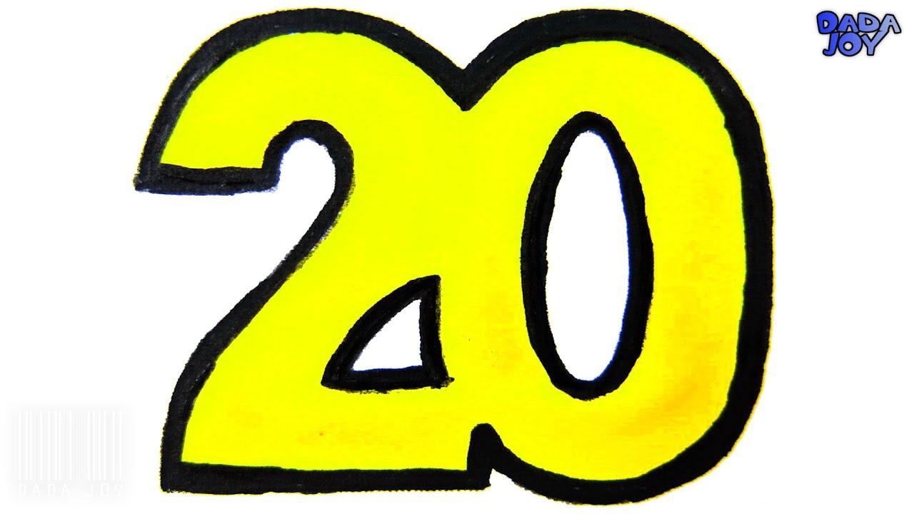 Aprender A Contar Del 1 Al 20números 1 20 Para Niñosaprende Coloresdibujar Y Colorear Los Números