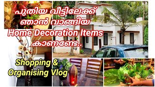 Shopping and organising for new home  Home decoration items shopping and arrangement  Home decor