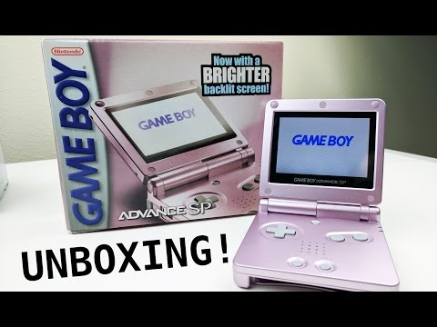 Unboxing Gameboy Advance SP! (AGS 101) || Nostalgia Time!