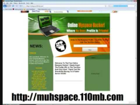 how to hack a private myspace account