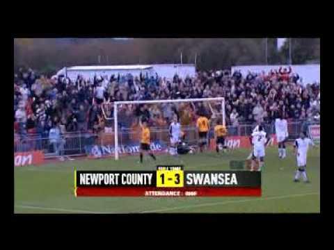 Newport County v Swansea City, 11 November 2006, FA Cup 1st Round.