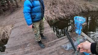 Рыбалка 10 марта 2020 Платное озеро Рыбацкая стрелка Первая рыбалка на платном озере
