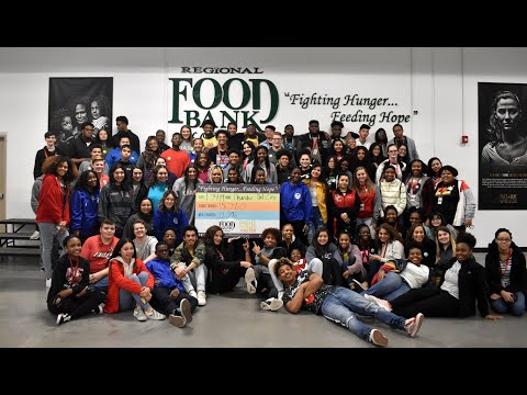 Del City High School Volunteered at Regional Food Bank!