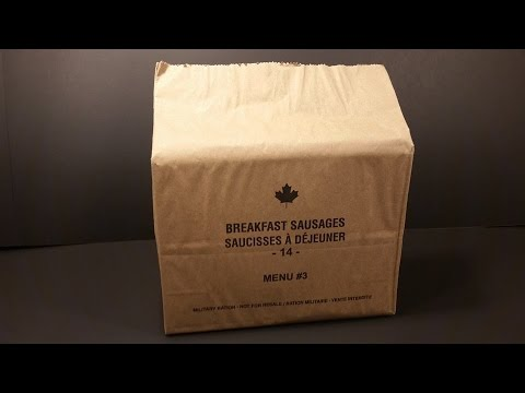 2014 Canadian IMP Individual Meal Pack MRE Review Breakfast Sausage Military Food Tasting