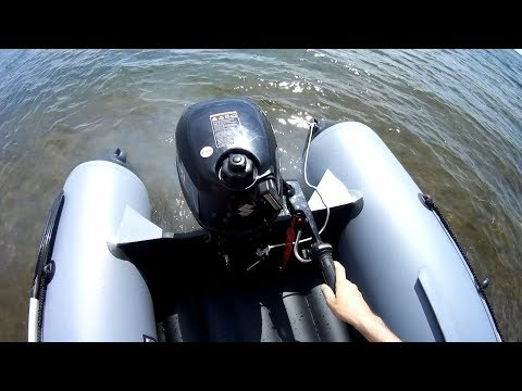 Обкатка лодочного мотора  SUZUKI DF2.5S