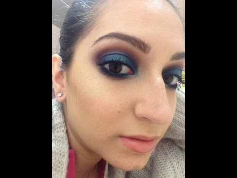 NABLA Get Ready With Me! Bright Blue MakeUp!!!
