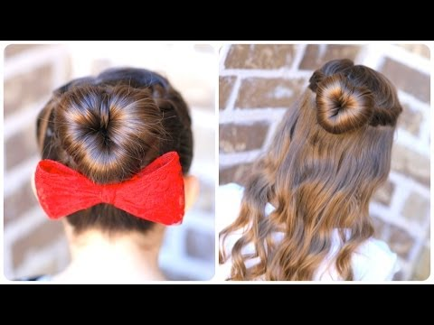 How To Create A Perfect Love Bun Valentines Day Heart - Hairstyle for valentine's dance