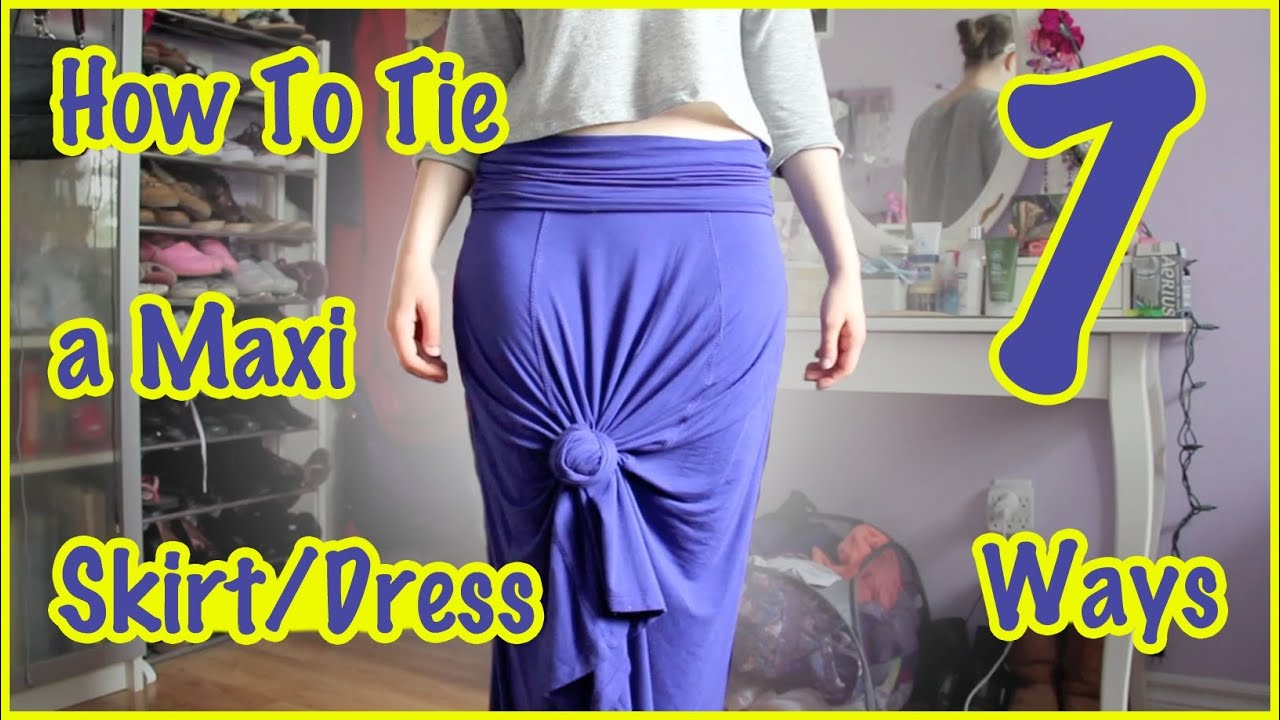 Make a maxi dress shorter
