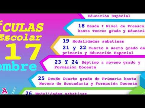 Matricula Escolar 2017 Spot MINED Nicaragua