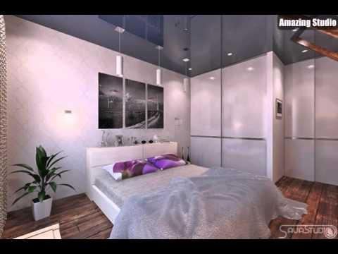 Lila, Weiß, Blau Schlafzimmer Gloss Decke Behandlung - YouTube