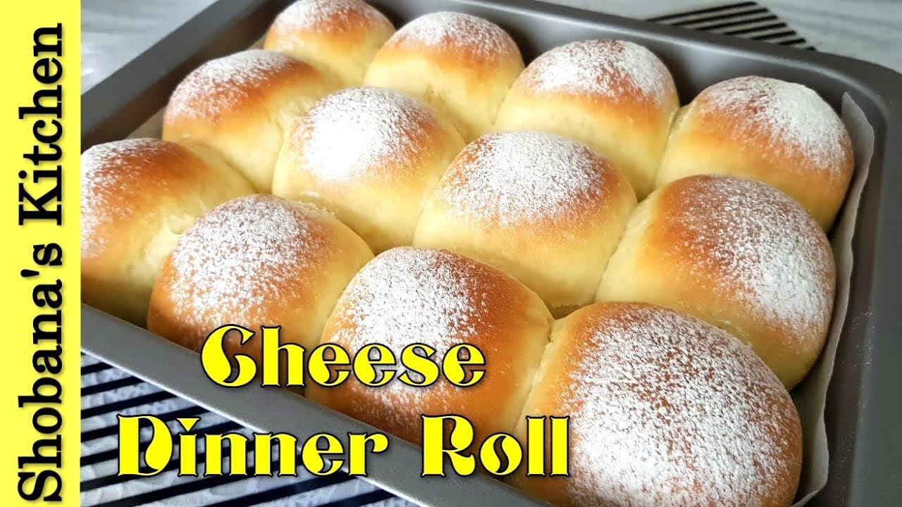 Soft Fluffy Cream Cheese Dinner Rolls Cream Cheese Bun Dinner Rolls Recipe Shobanas Kitchen Youtube
