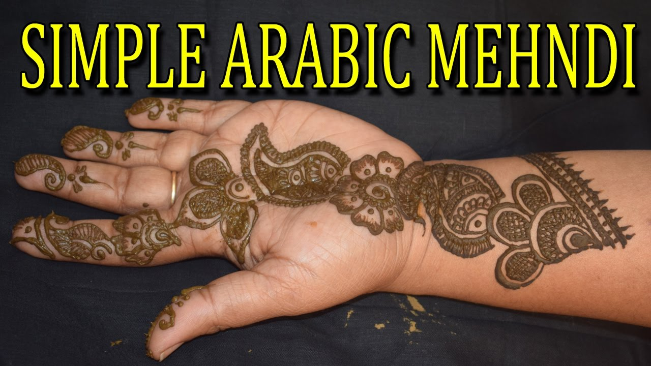 Design Of Mehndi For Women : How to make arabic mehndi design on hand simple
