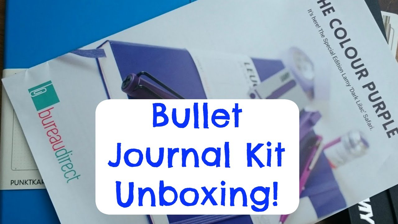 bullet journal kit unboxing youtube. Black Bedroom Furniture Sets. Home Design Ideas