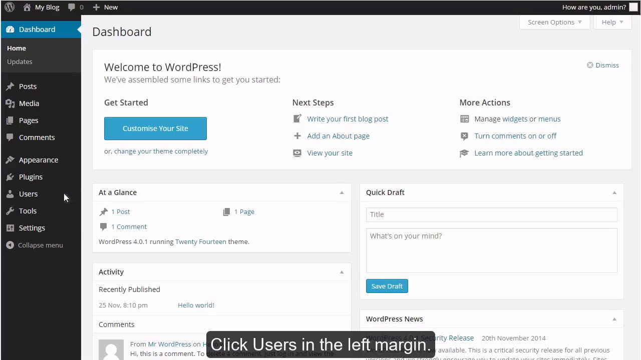 How to edit your profile in WordPress?