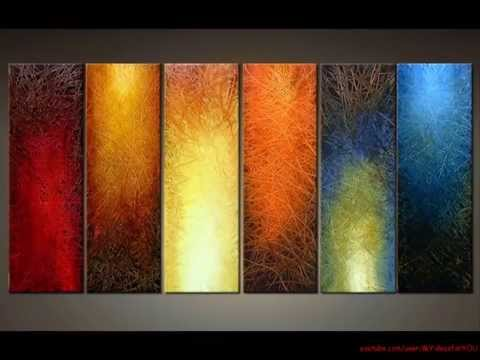 DIY Art Canvas Painting Ideas for Living Room