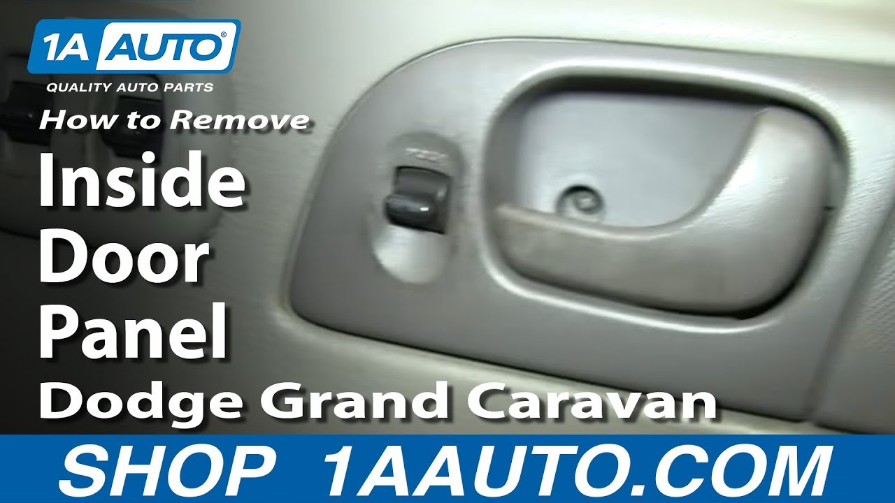 How To Remove Door Panel 02 07 Dodge Grand Caravan Youtube
