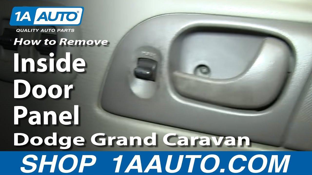 how to remove door panel 02 07 dodge grand caravan [ 1280 x 720 Pixel ]