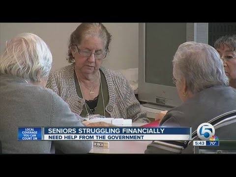 Seniors struggling financially