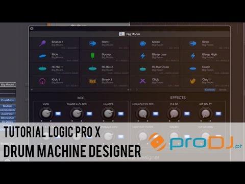 tutorial logic pro x drum machine designer youtube. Black Bedroom Furniture Sets. Home Design Ideas