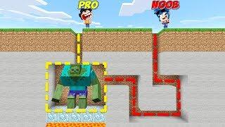 NOOB VS PRO 😂 ENCONTRAMOS AL ZOMBIE MUTANTE SECRETO! 😱 Minecraft Serie de Mods #3