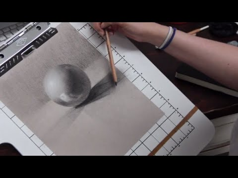 ASMR Whisper Art Lesson, Drawing with Charcoal Mp3