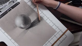 ASMR Whisper Art Lesson, Drawing with Charcoal