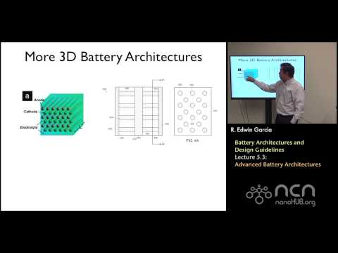nanoHUB-U Rechargeable Batteries L5.3: Architectures & Design Guidelines - Advanced Architectures